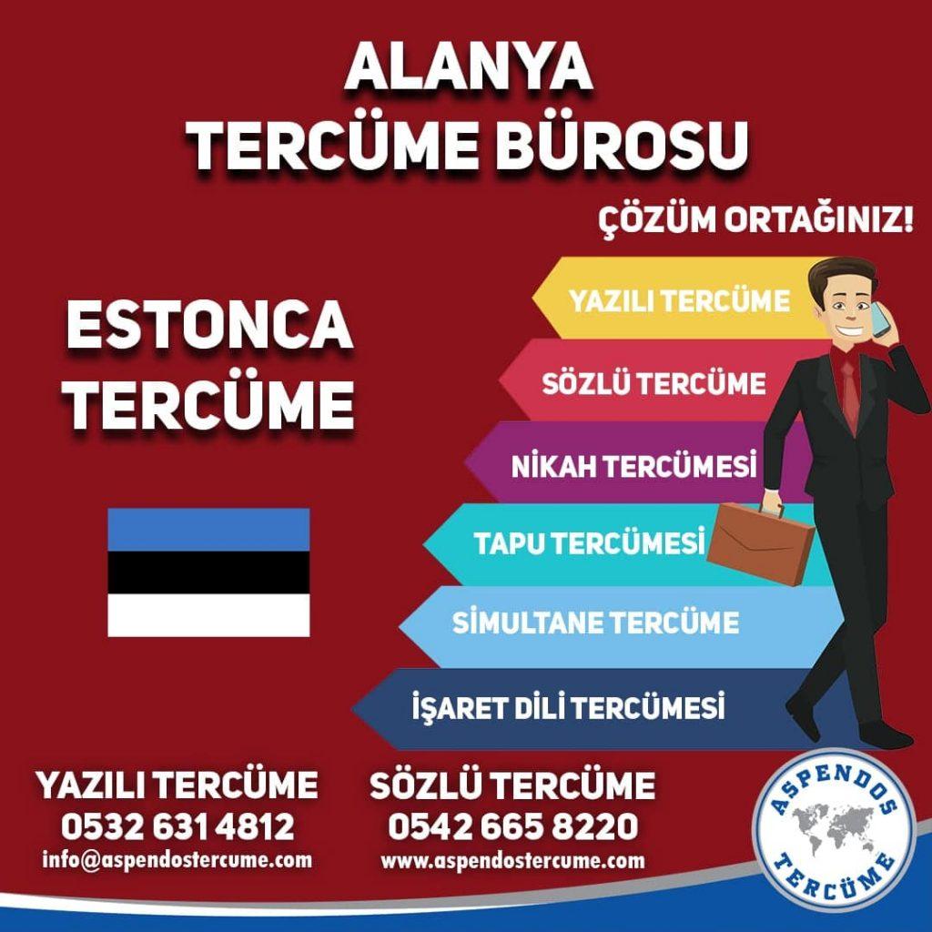 Alanya Tercüme Bürosu - Estonca Tercüme - Aspendos Tercüme