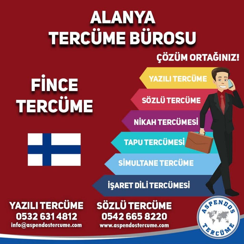 Alanya Tercüme Bürosu - Fince Tercüme - Aspendos Tercüme