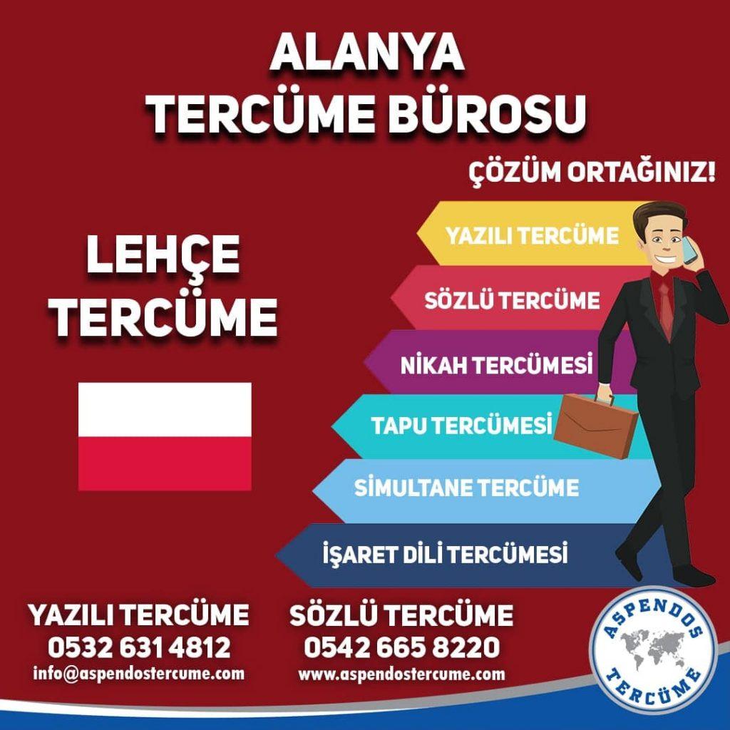 Alanya Tercüme Bürosu - Lehçe Tercüme - Aspendos Tercüme