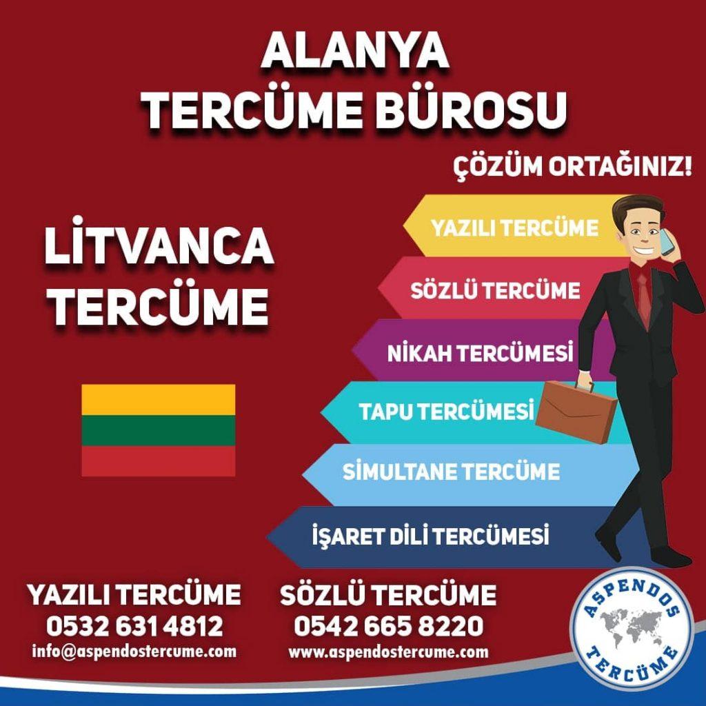 Alanya Tercüme Bürosu - Litvanca Tercüme - Aspendos Tercüme