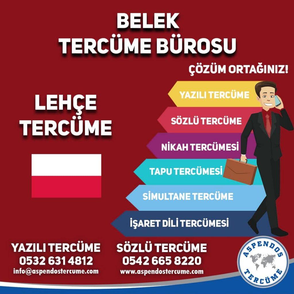 Belek Tercüme Bürosu - Lehçe Tercüme - Aspendos Tercüme