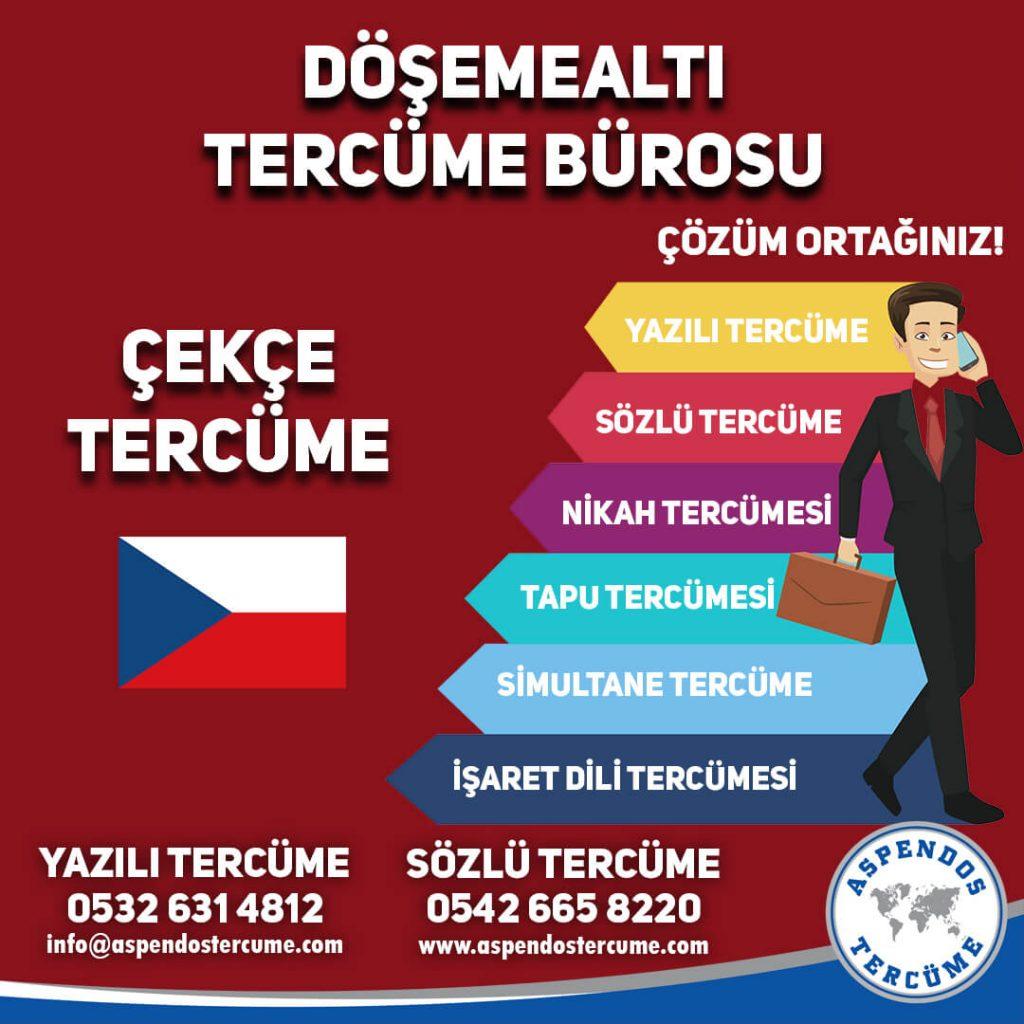 Döşemealtı Tercüme Bürosu - Çekçe Tercüme - Aspendos Tercüme