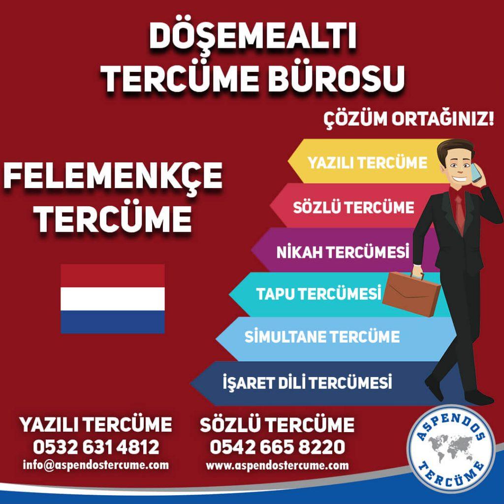 Döşemealtı Tercüme Bürosu - Felemenkçe Tercüme - Aspendos Tercüme