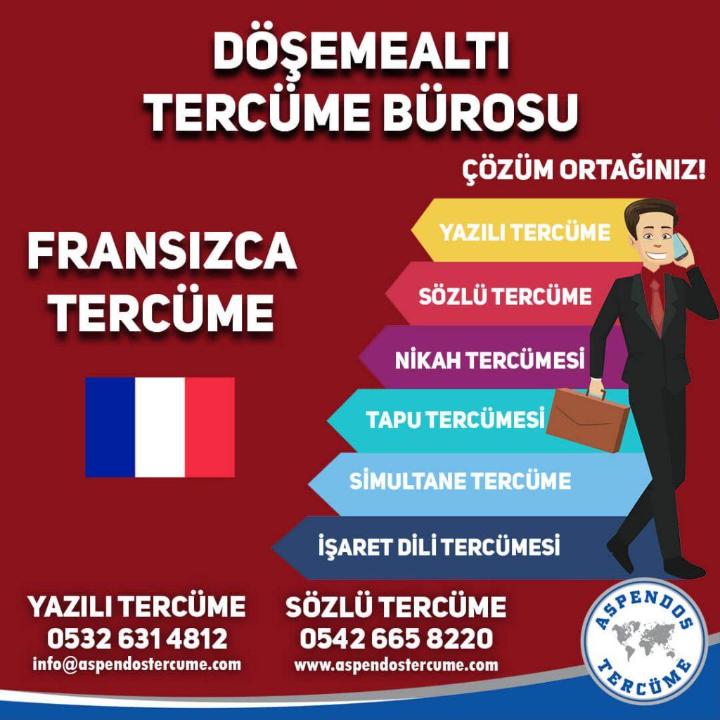 Döşemealtı Tercüme Bürosu - Fransızca Tercüme - Aspendos Tercüme