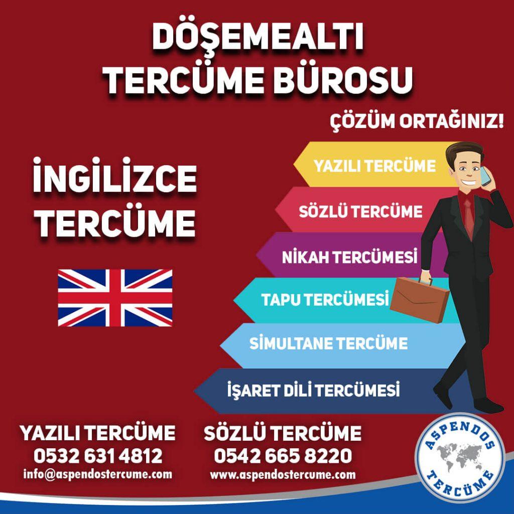 Döşemealtı Tercüme Bürosu - İngilizce Tercüme - Aspendos Tercüme
