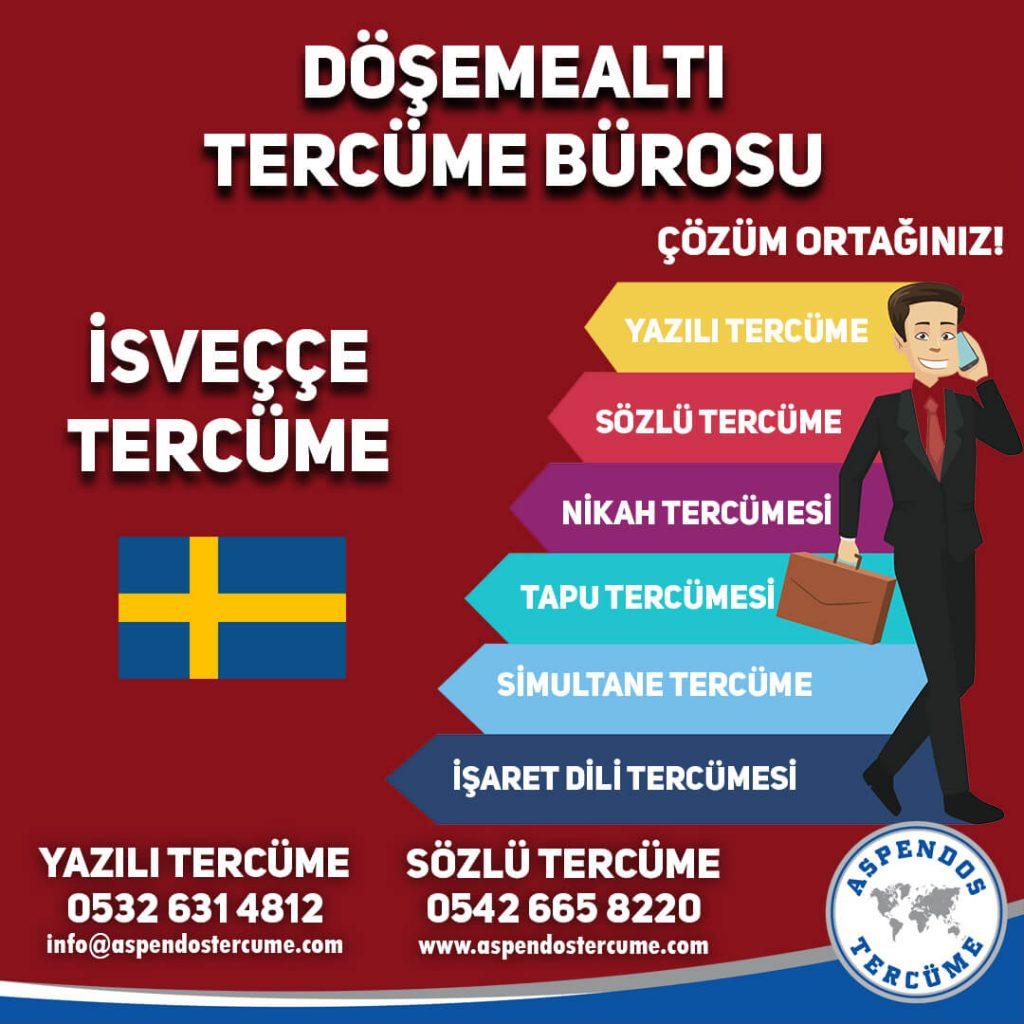 Döşemealtı Tercüme Bürosu - İsveççe Tercüme - Aspendos Tercüme