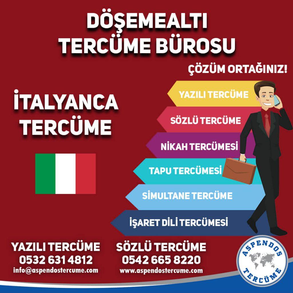 Döşemealtı Tercüme Bürosu - İtalyanca Tercüme - Aspendos Tercüme