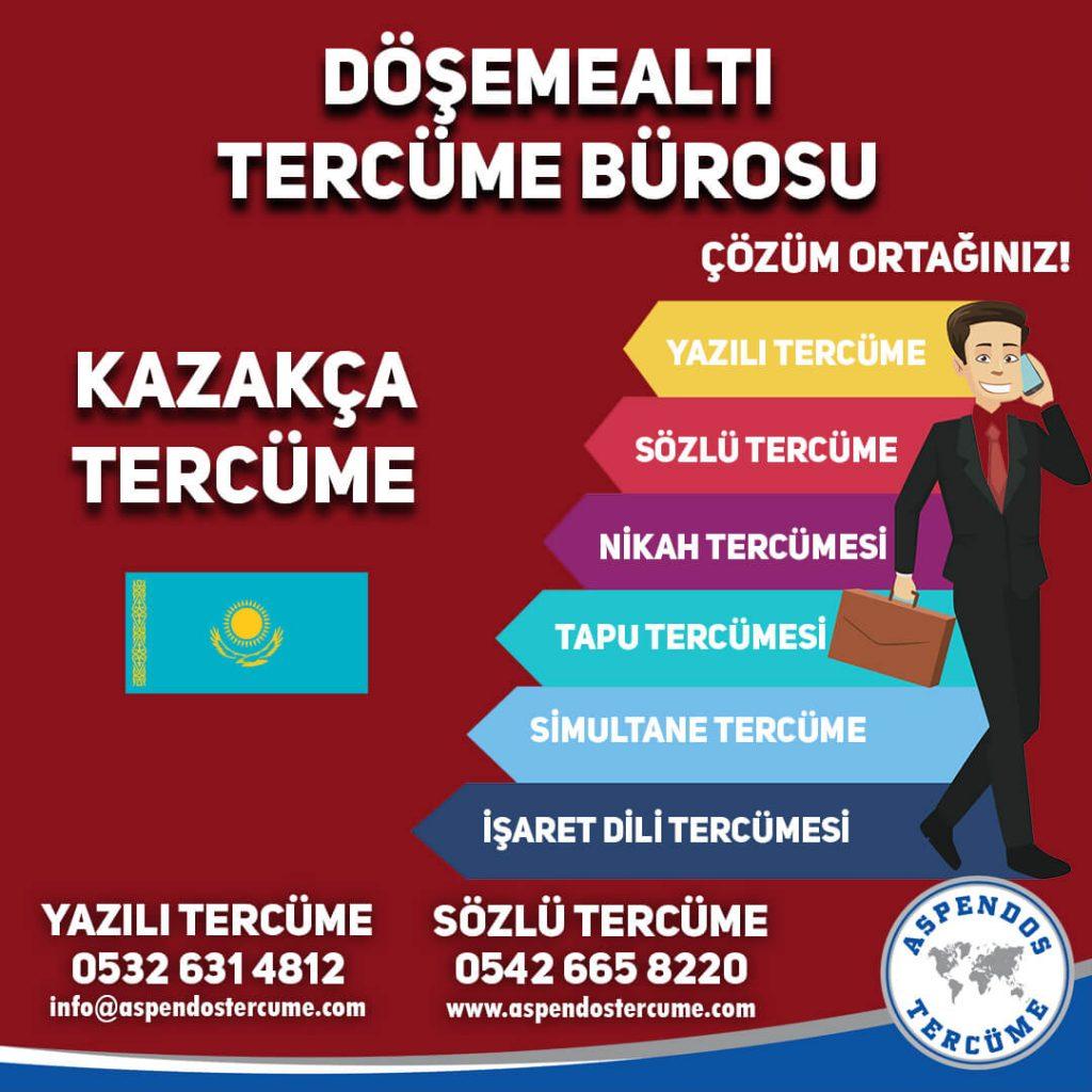Döşemealtı Tercüme Bürosu - Kazakça Tercüme - Aspendos Tercüme