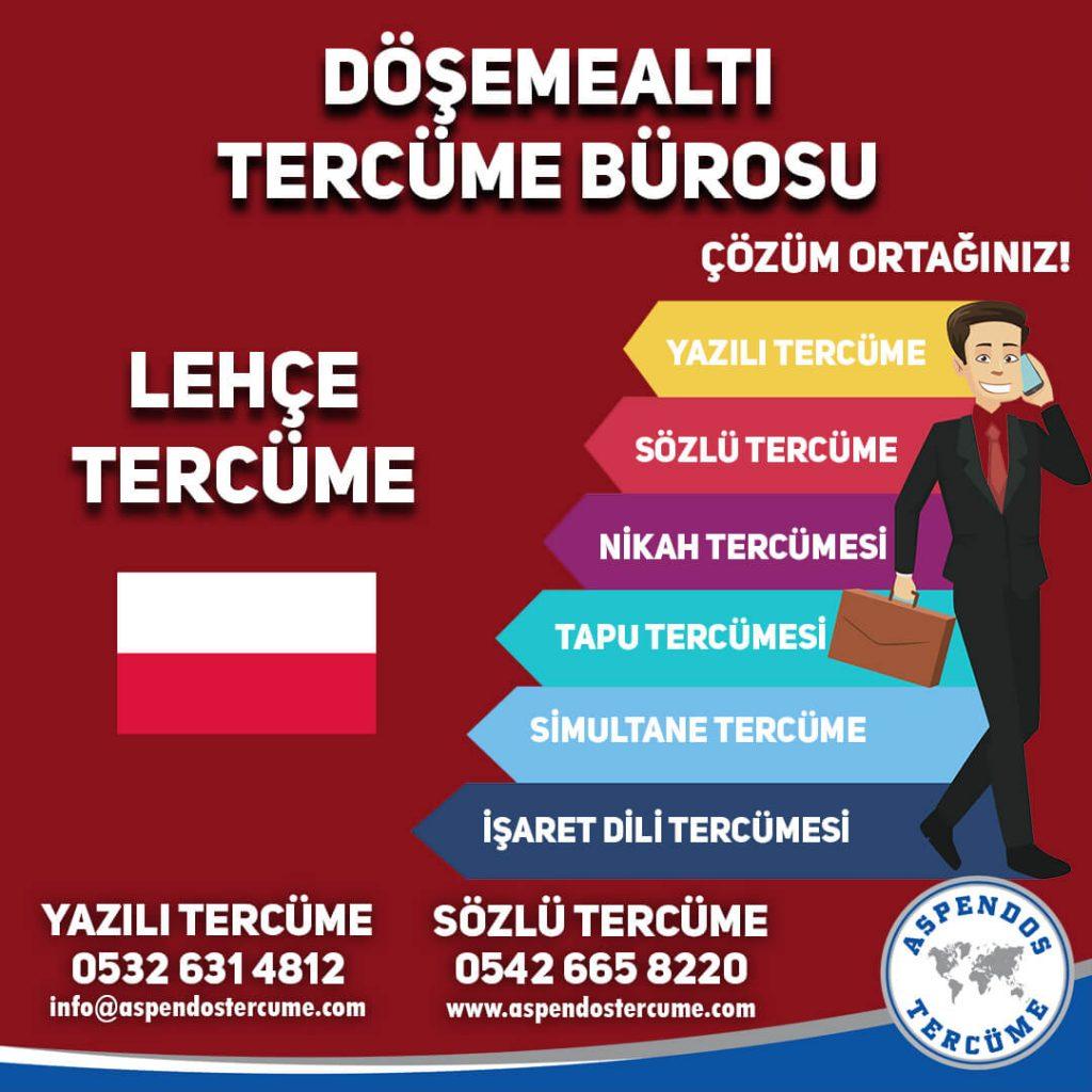 Döşemealtı Tercüme Bürosu - Lehçe Tercüme - Aspendos Tercüme