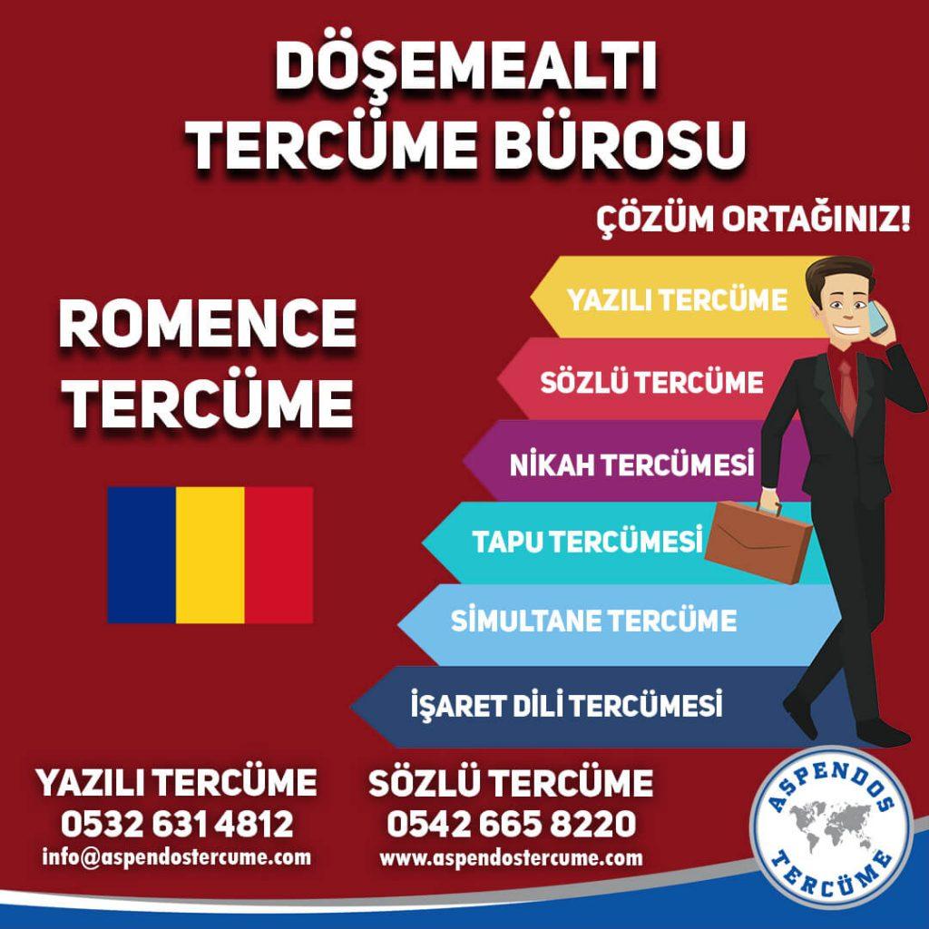 Döşemealtı Tercüme Bürosu - Romence Tercüme - Aspendos Tercüme