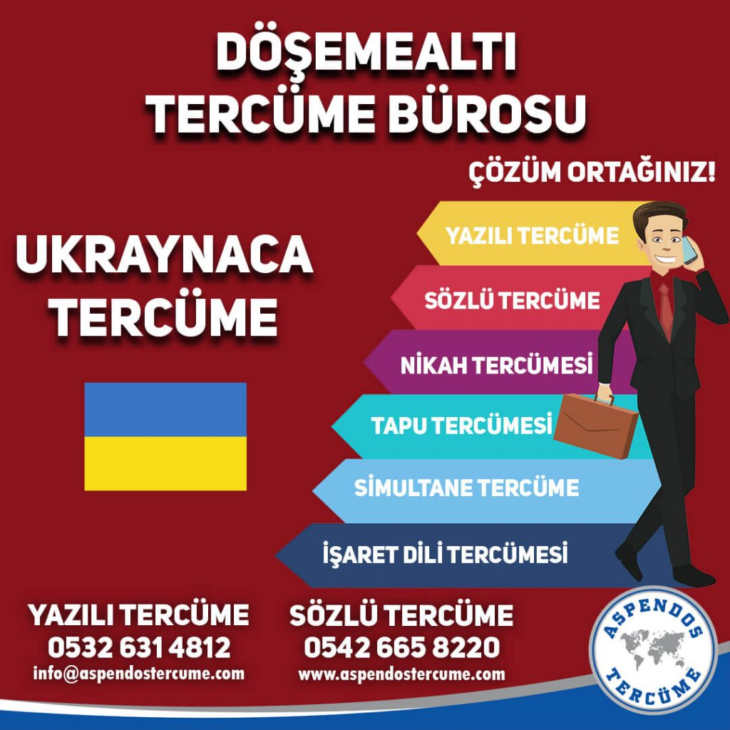 Döşemealtı Tercüme Bürosu - Ukraynaca Tercüme - Aspendos Tercüme
