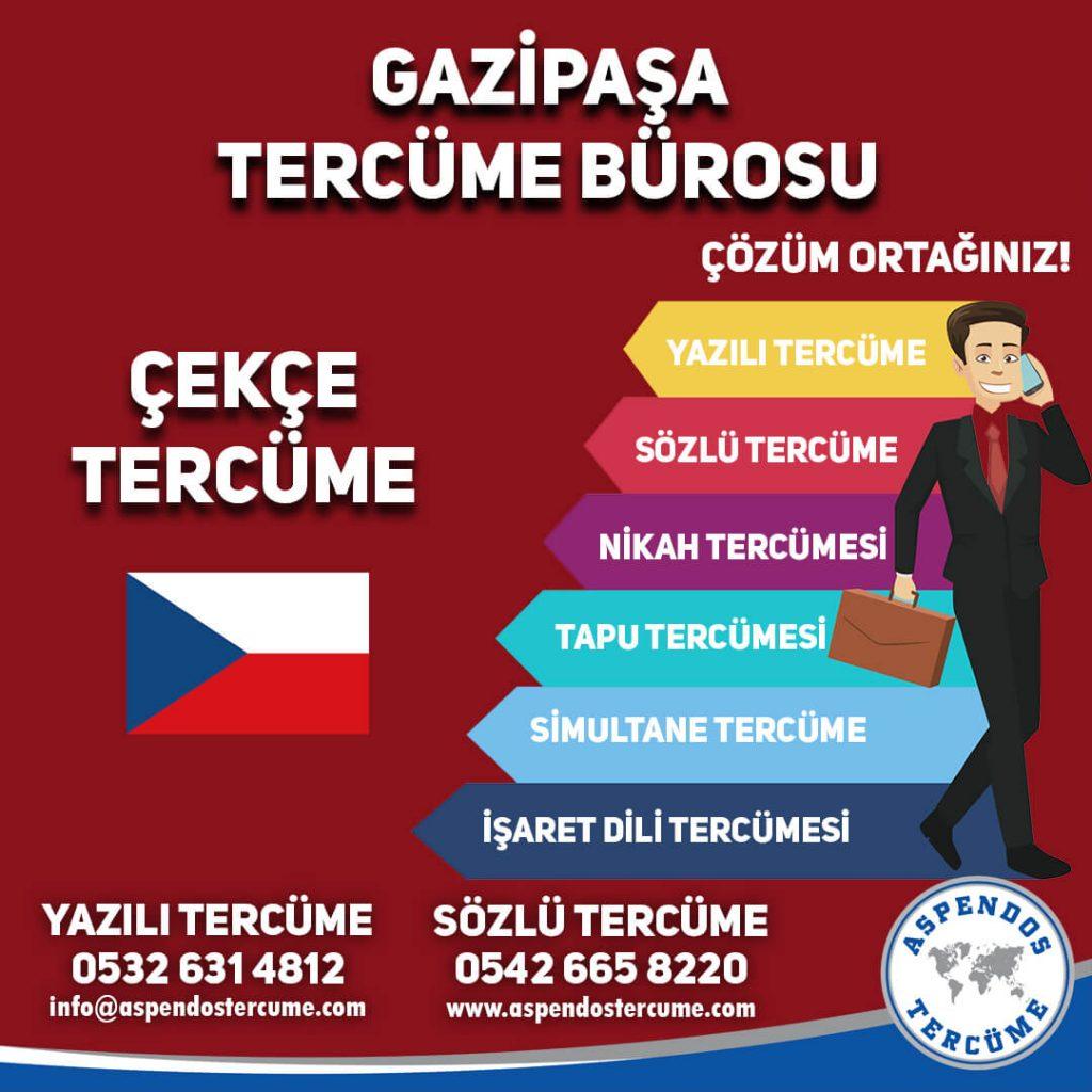 Gazipaşa Tercüme Bürosu - Çekçe Tercüme - Aspendos Tercüme