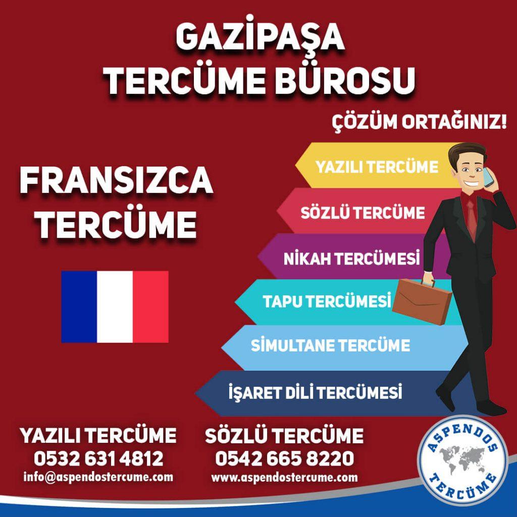 Gazipaşa Tercüme Bürosu - Fransızca Tercüme - Aspendos Tercüme