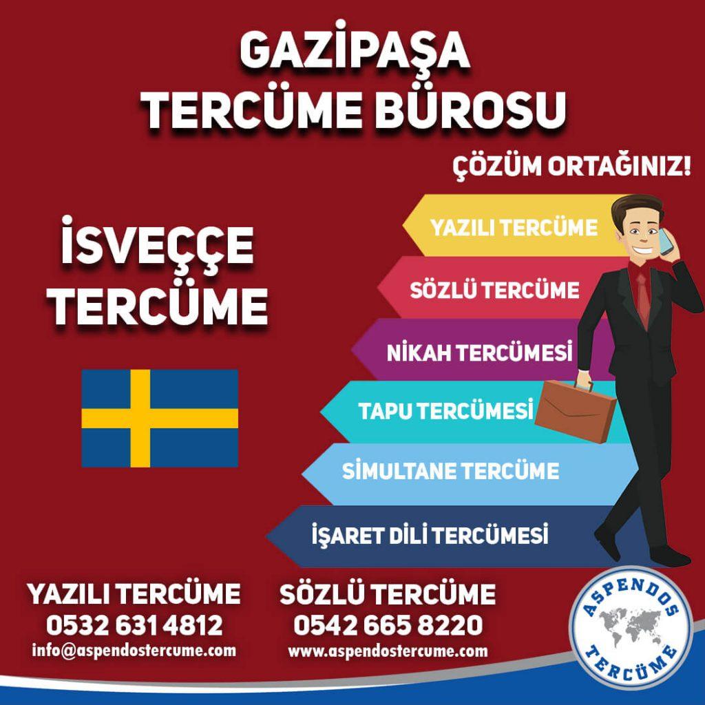 Gazipaşa Tercüme Bürosu - İsveççe Tercüme - Aspendos Tercüme