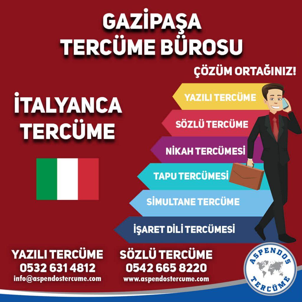 Gazipaşa Tercüme Bürosu - İtalyanca Tercüme - Aspendos Tercüme