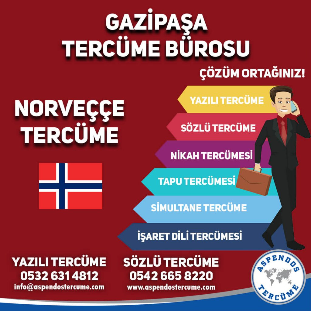 Gazipaşa Tercüme Bürosu - Norveççe Tercüme - Aspendos Tercüme
