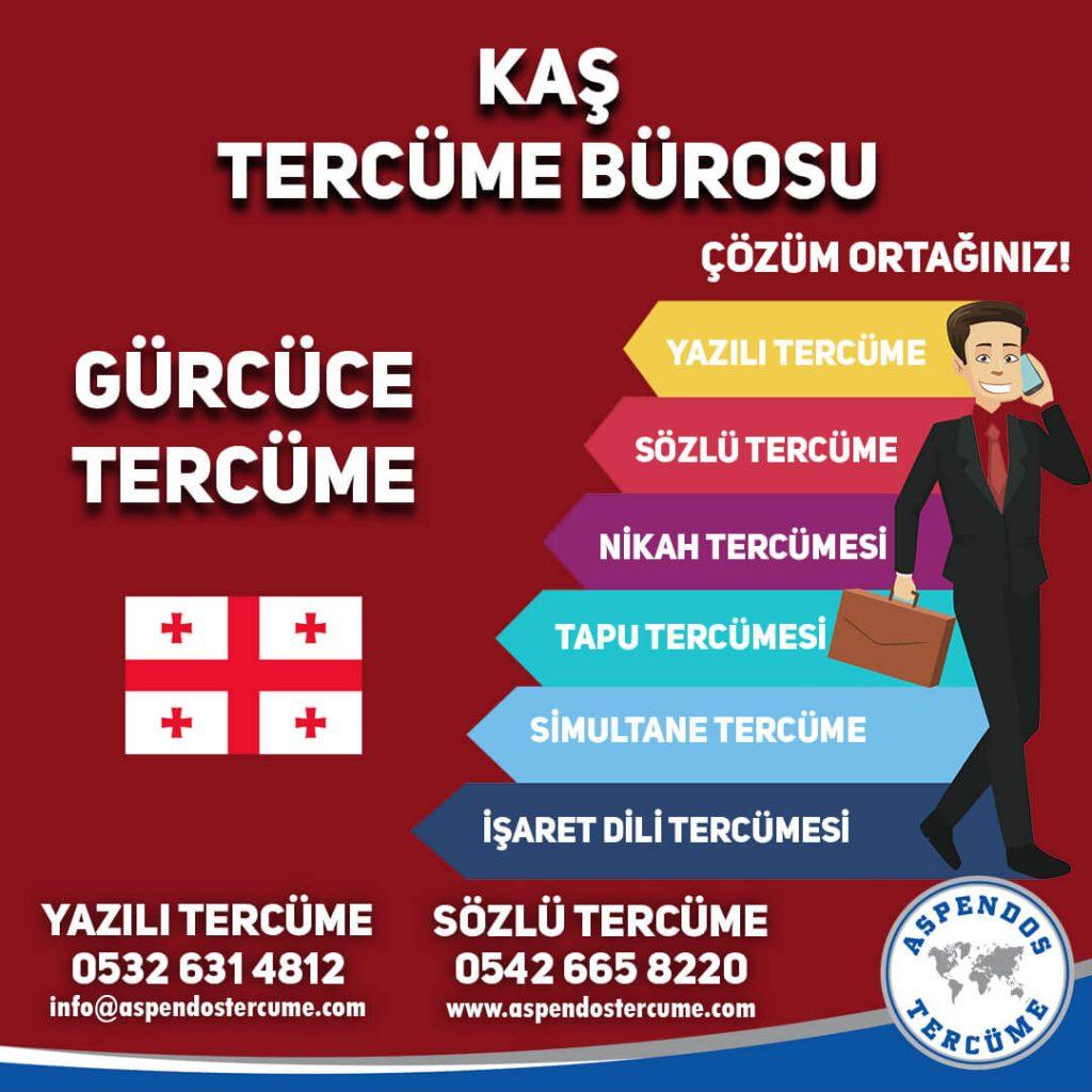 Kaş Tercüme Bürosu - Gürcüce Tercüme - Aspendos Tercüme