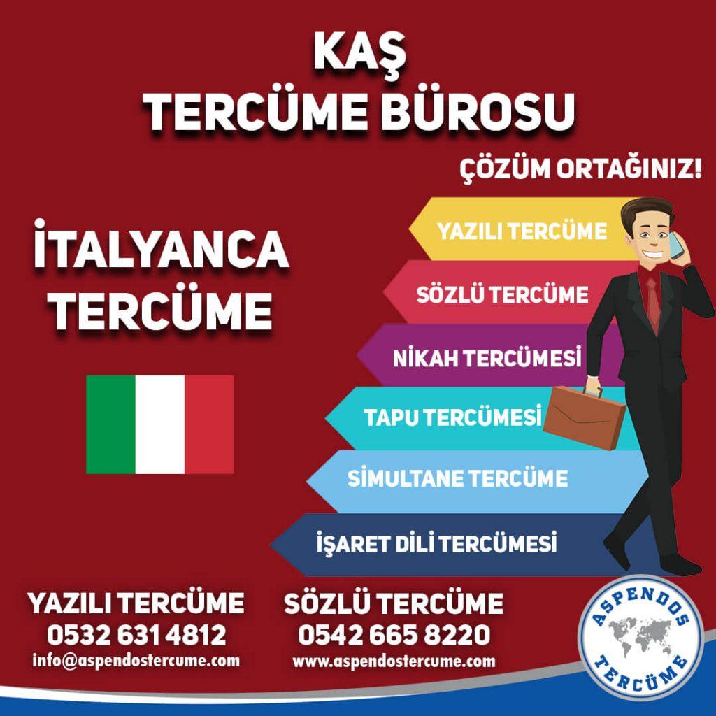Kaş Tercüme Bürosu - İtalyanca Tercüme - Aspendos Tercüme