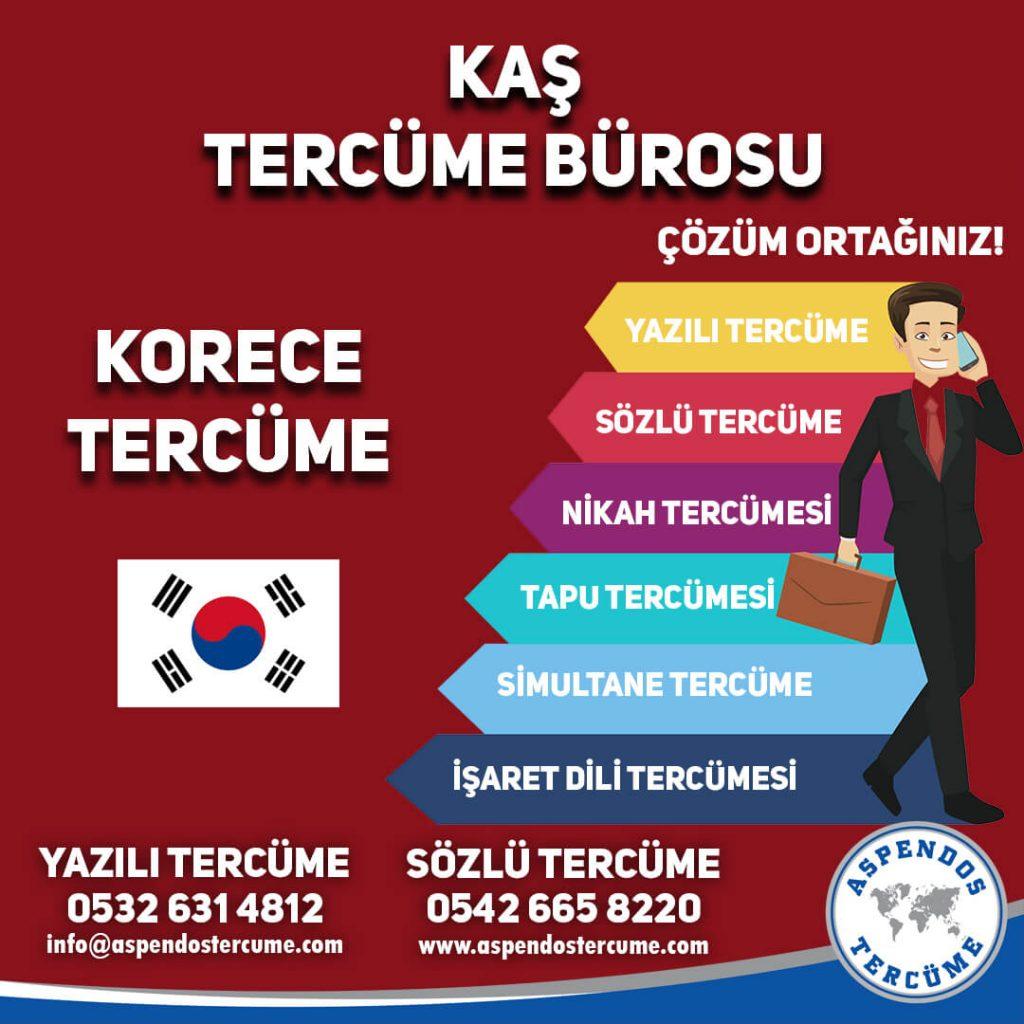 Kaş Tercüme Bürosu - Korece Tercüme - Aspendos Tercüme