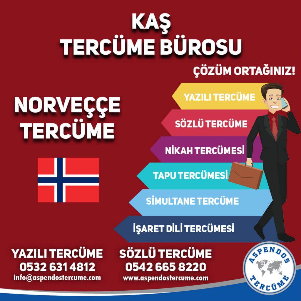 Kaş Tercüme Bürosu - Norveççe Tercüme - Aspendos Tercüme