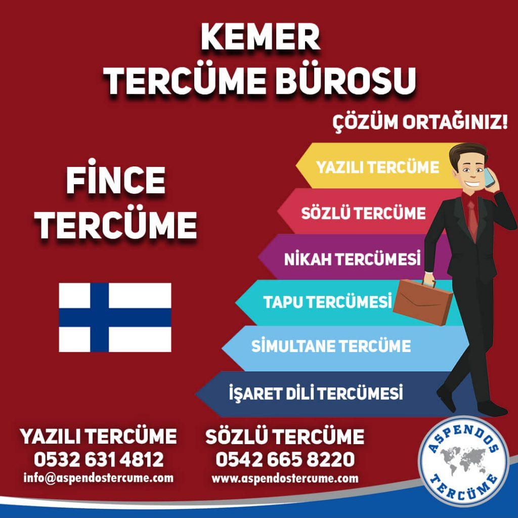 Kemer Tercüme Bürosu - Fince Tercüme - Aspendos Tercüme