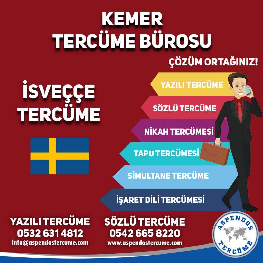 Kemer Tercüme Bürosu - İsveççe Tercüme - Aspendos Tercüme