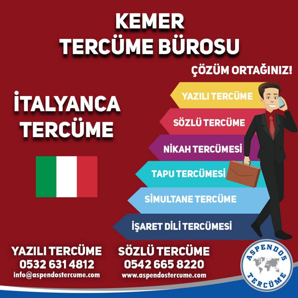 Kemer Tercüme Bürosu - İtalyanca Tercüme - Aspendos Tercüme