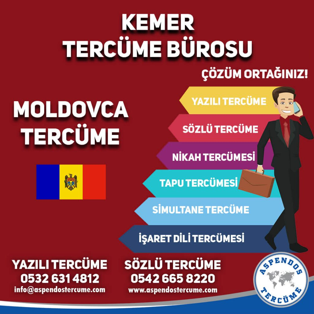 Kemer Tercüme Bürosu - Moldovca Tercüme - Aspendos Tercüme