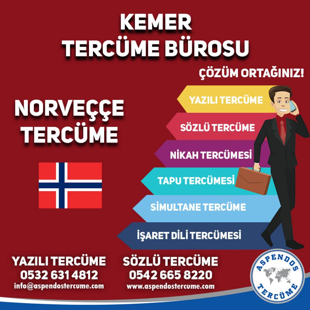 Kemer Tercüme Bürosu - Norveççe Tercüme - Aspendos Tercüme