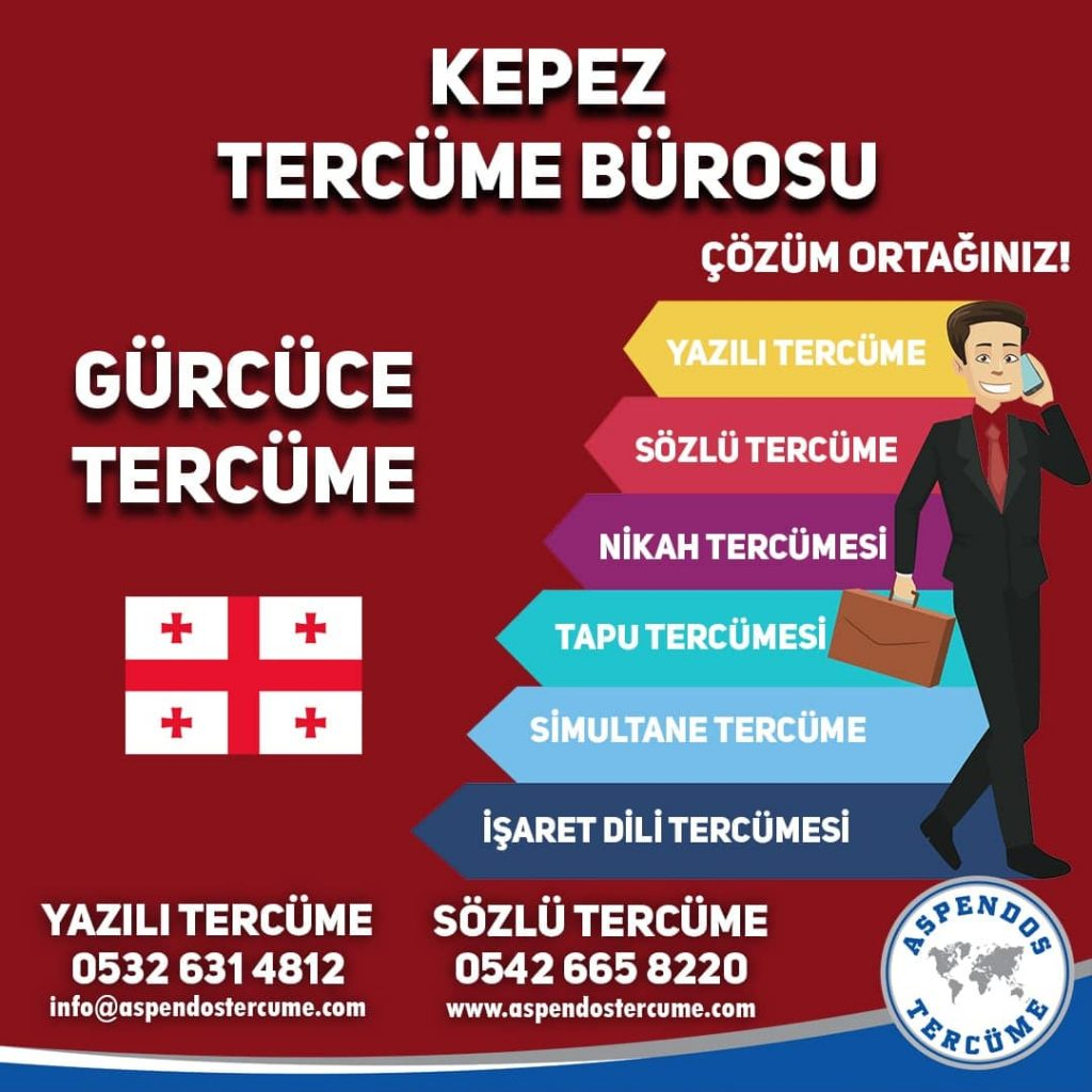 Kepez Tercüme Bürosu - Gürcüce Tercüme - Aspendos Tercüme