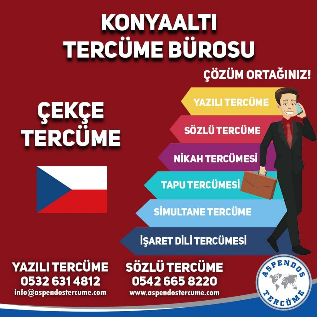 Konyaaltı Tercüme Bürosu - Çekçe Tercüme - Aspendos Tercüme