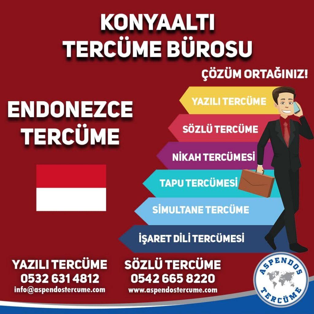 Konyaaltı Tercüme Bürosu - Endonezce Tercüme - Aspendos Tercüme