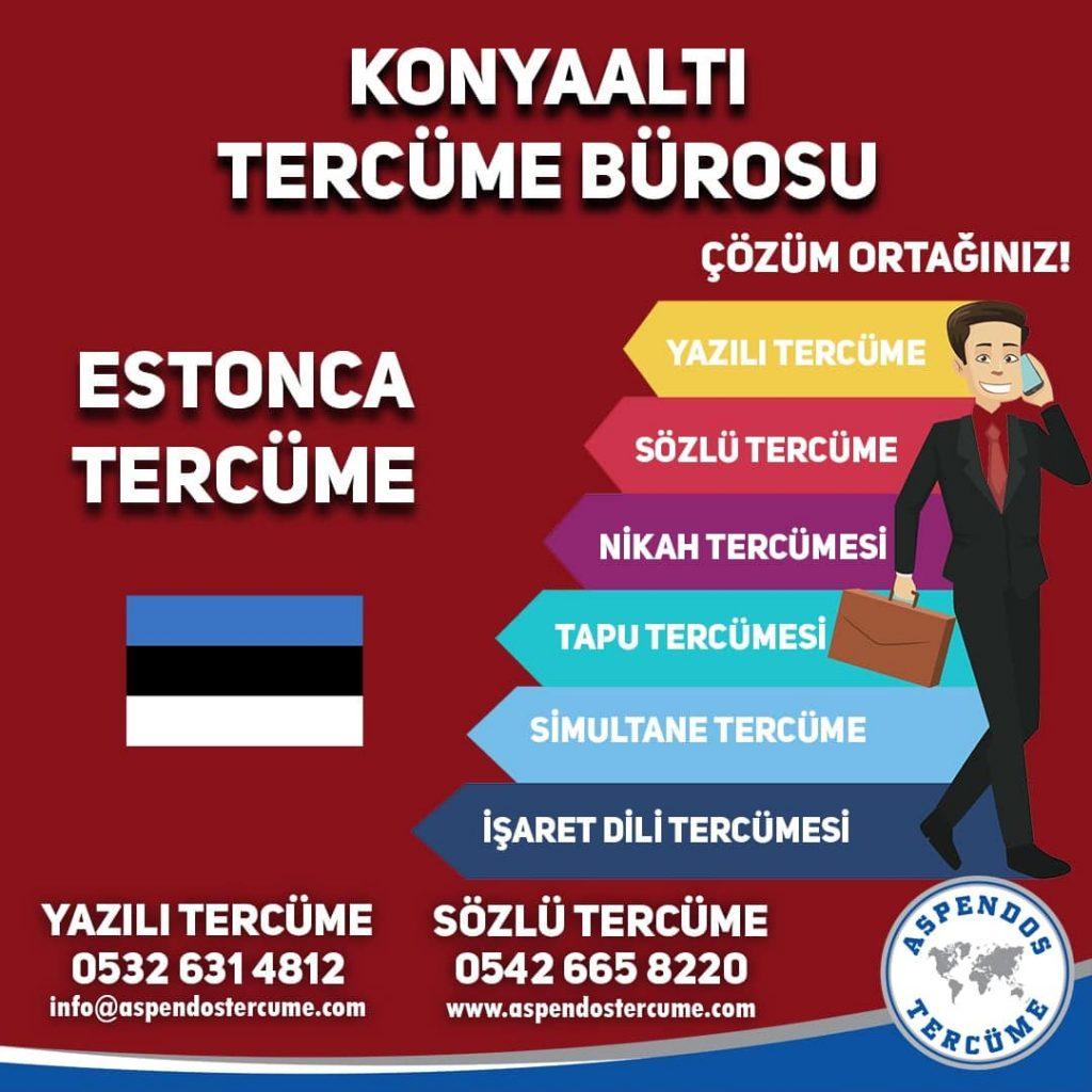 Konyaaltı Tercüme Bürosu - Estonca Tercüme - Aspendos Tercüme