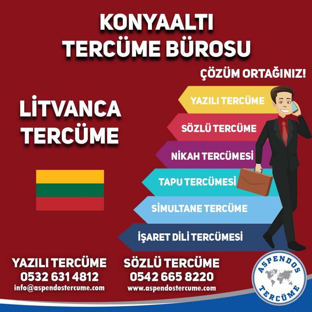 Konyaaltı Tercüme Bürosu - Litvanca Tercüme - Aspendos Tercüme