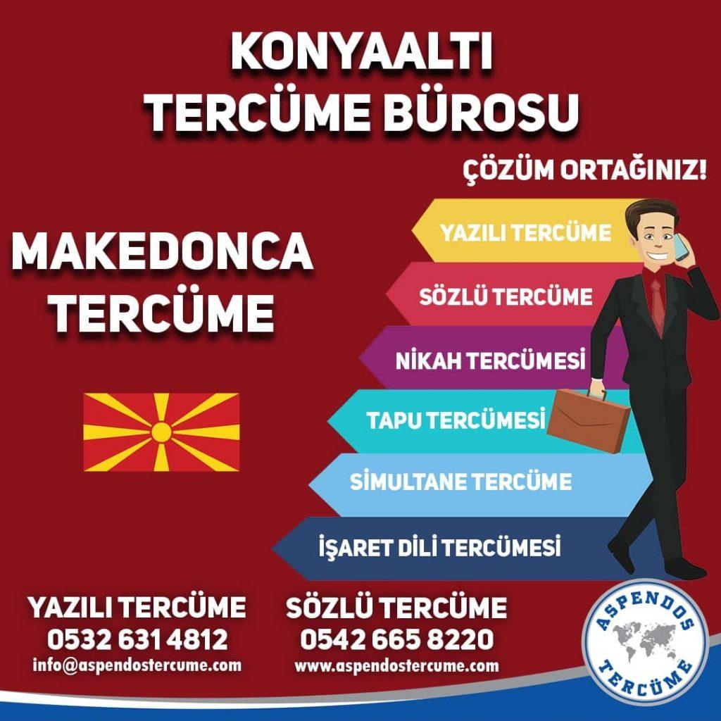 Konyaaltı Tercüme Bürosu - Makedonca Tercüme - Aspendos Tercüme