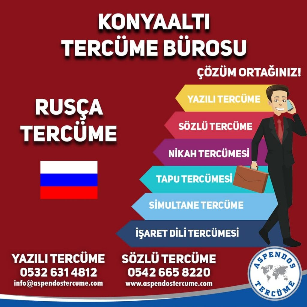 Konyaaltı Tercüme Bürosu - Rusça Tercüme - Aspendos Tercüme
