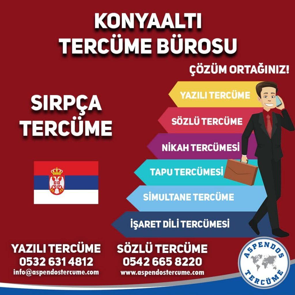Konyaaltı Tercüme Bürosu - Sırpça Tercüme - Aspendos Tercüme