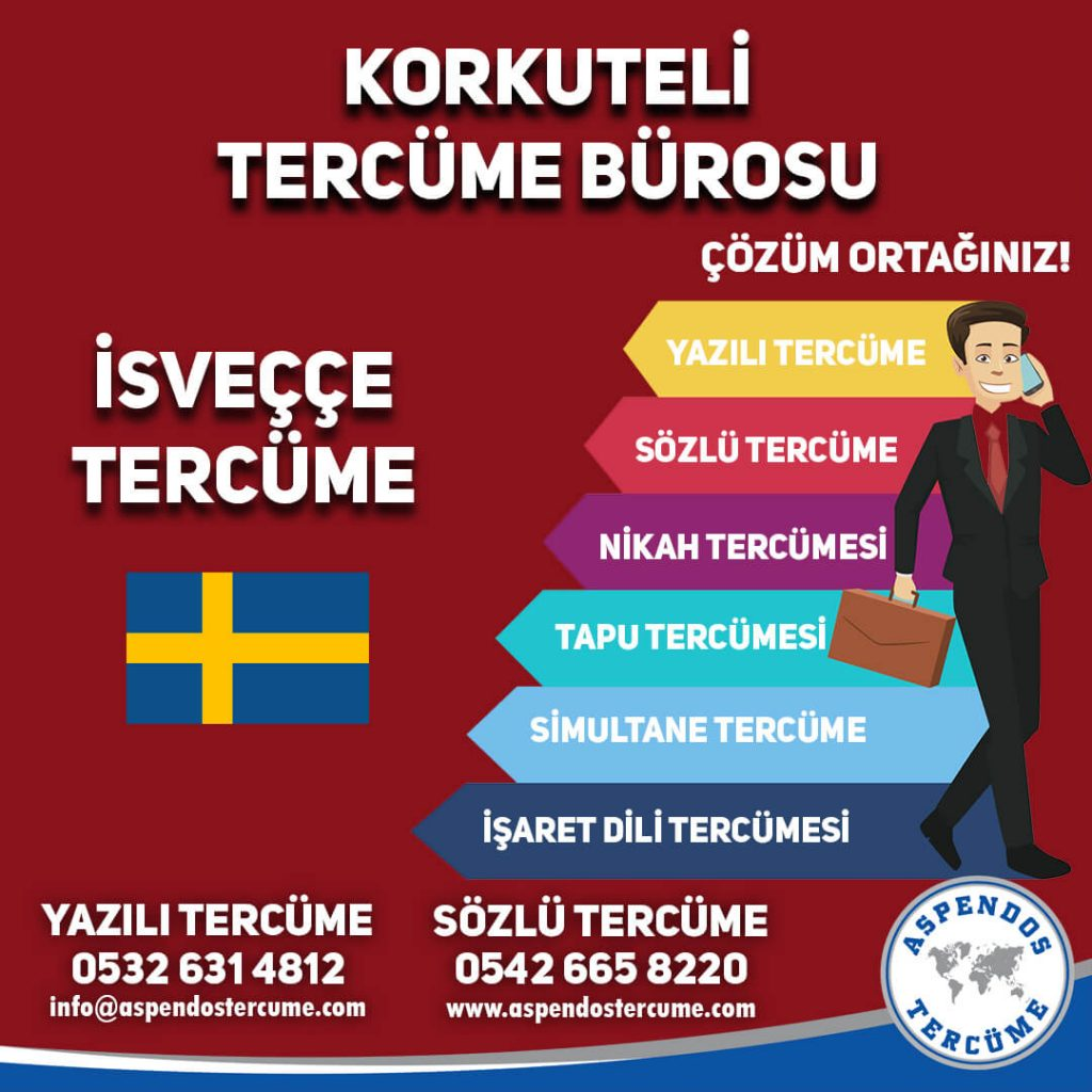 Korkuteli Tercüme Bürosu - İsveççe Tercüme - Aspendos Tercüme