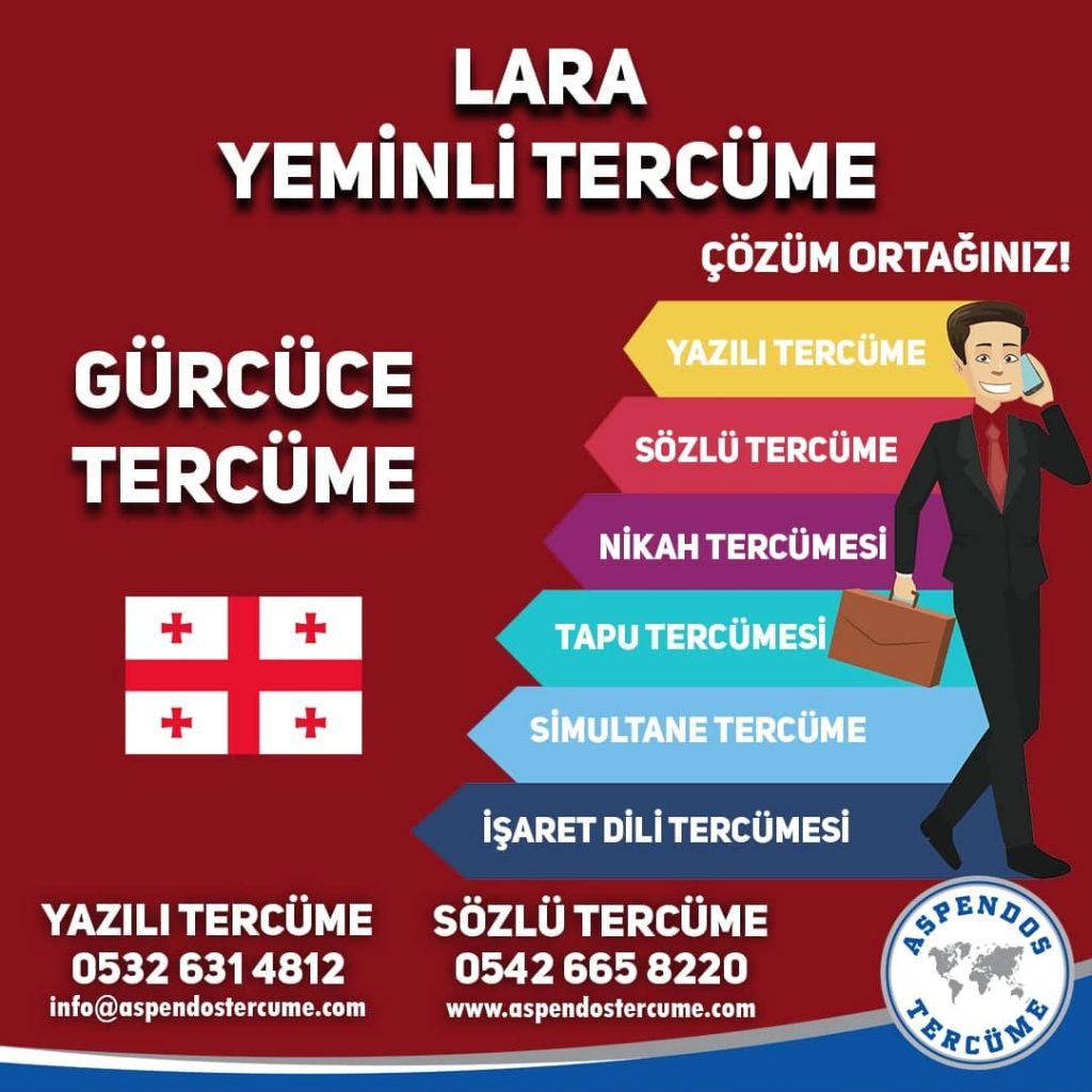 Lara Yeminli Tercüme - Gürcüce Tercüme - Aspendos Tercüme