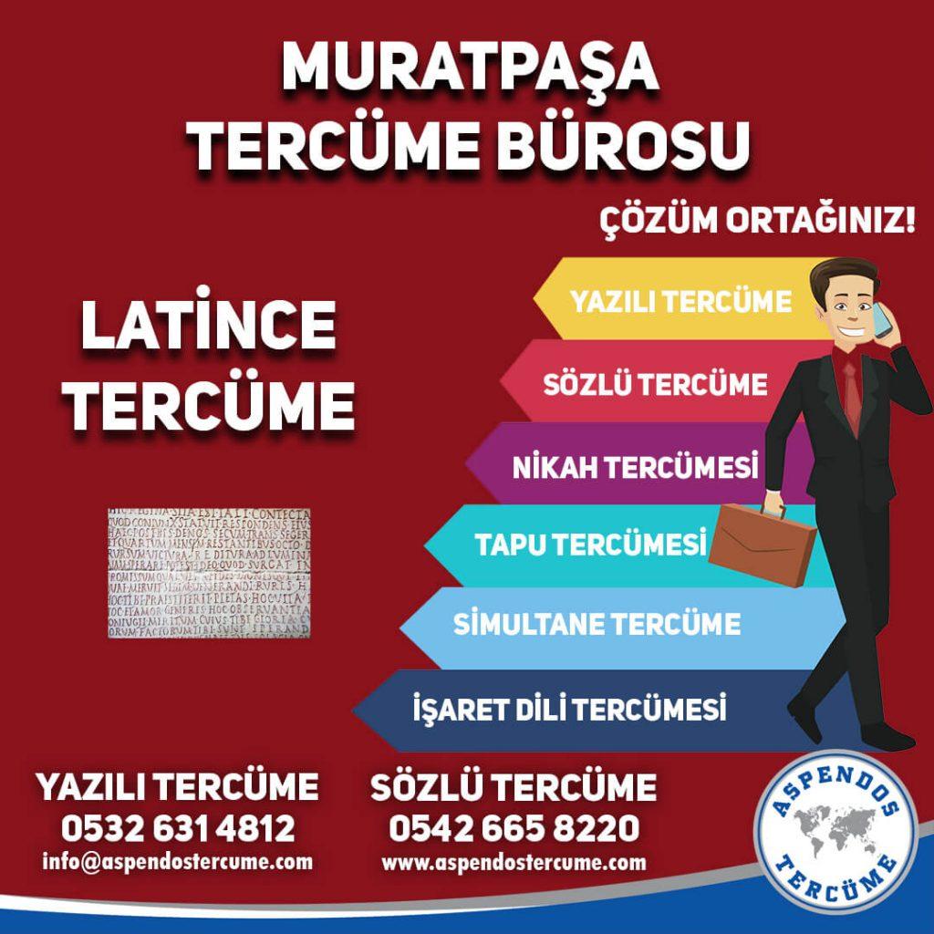 Muratpaşa Tercüme Bürosu - Latince Tercüme - Aspendos Tercüme