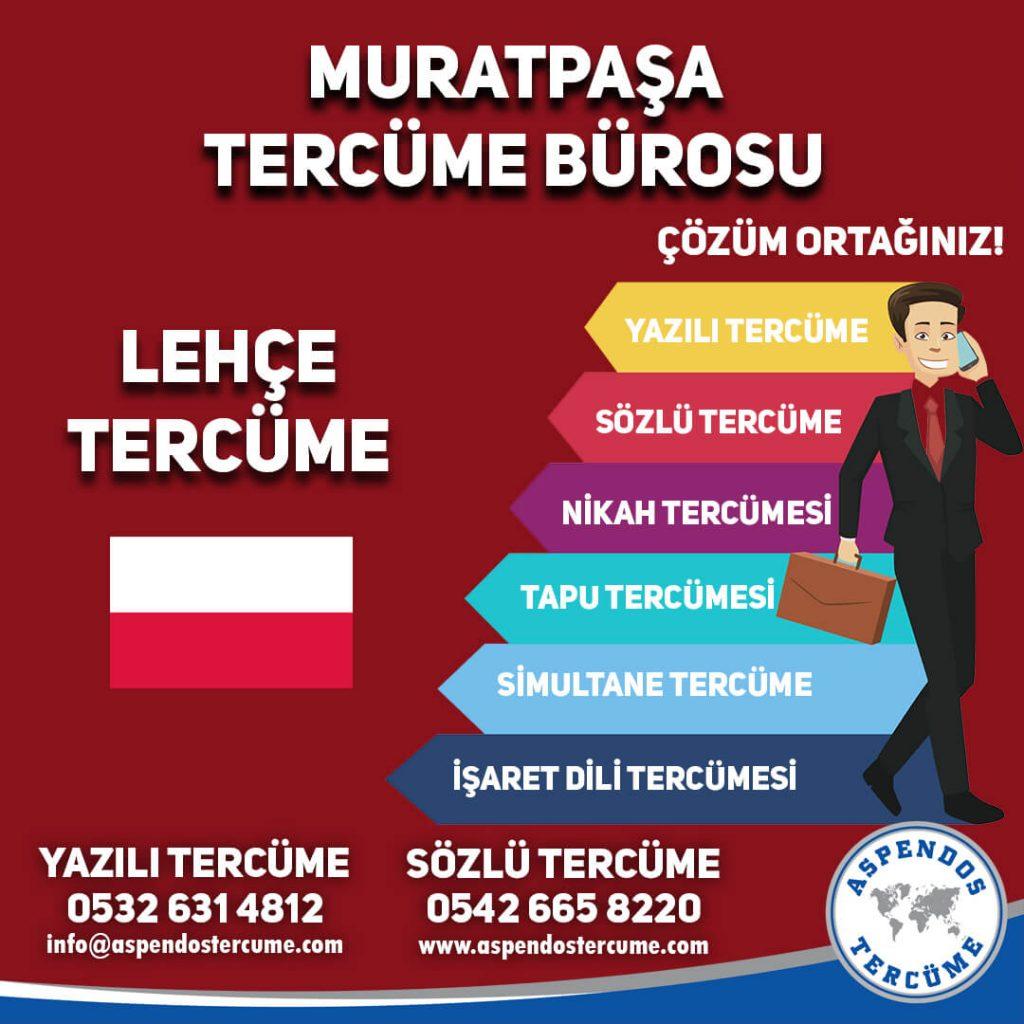 Muratpaşa Tercüme Bürosu - Lehce Tercüme - Aspendos Tercüme