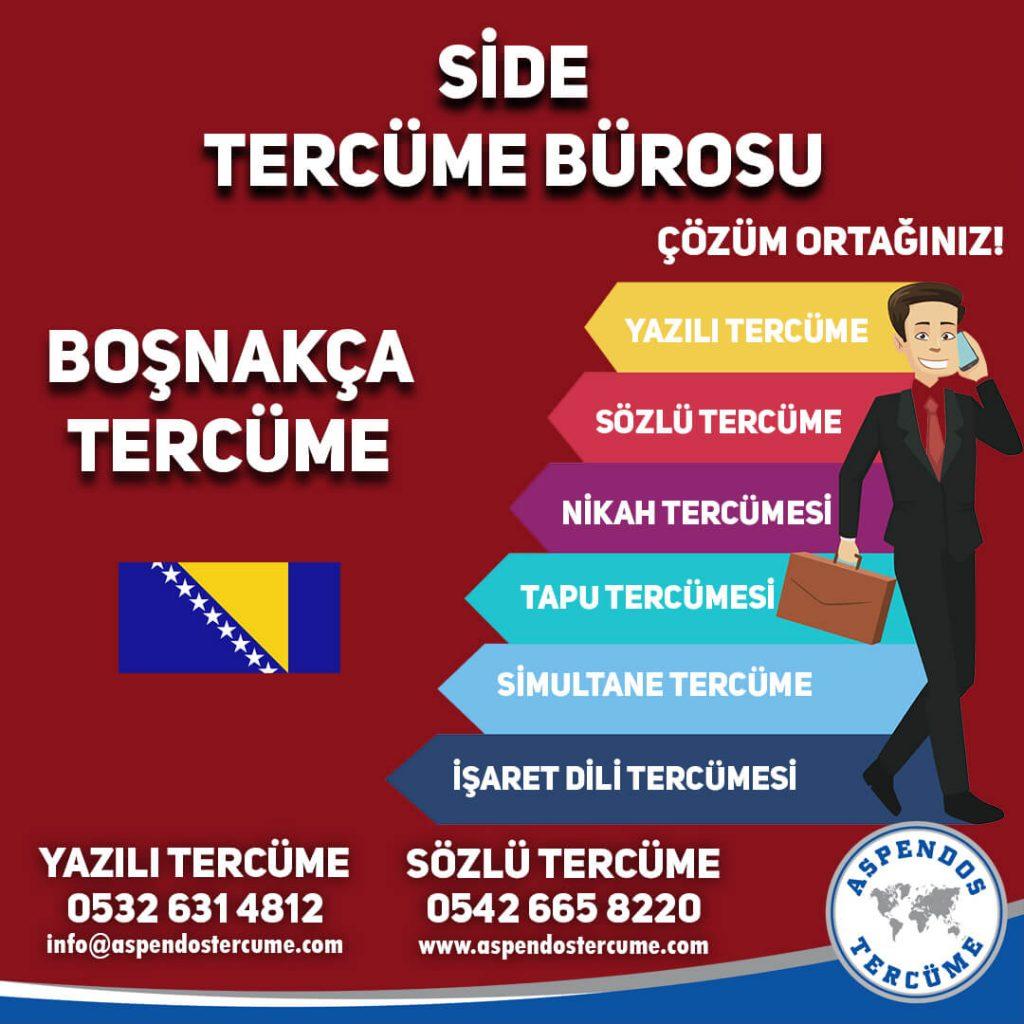 Side Tercüme Bürosu - Boşnakça Tercüme - Aspendos Tercüme