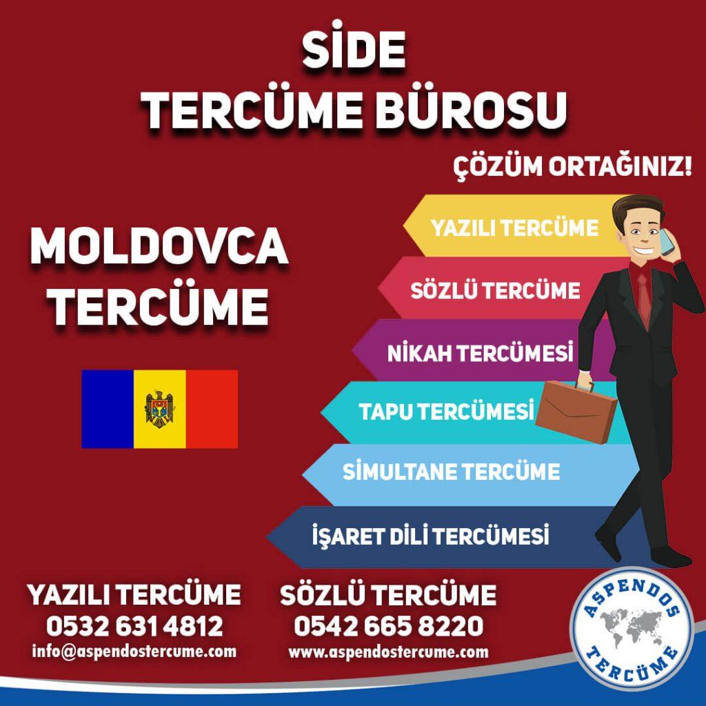 Side Tercüme Bürosu - Moldovca Tercüme - Aspendos Tercüme