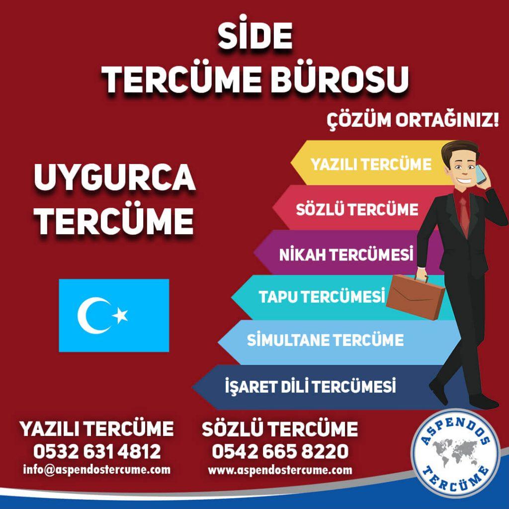 Side Tercüme Bürosu - Uygurca Tercüme - Aspendos Tercüme