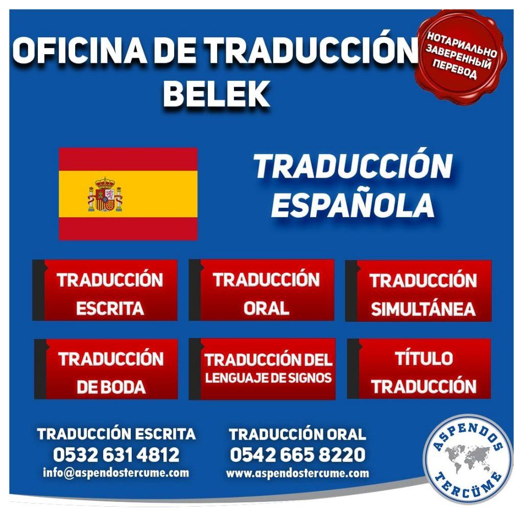 Belek Oficina de Traduccion - Traducción Española