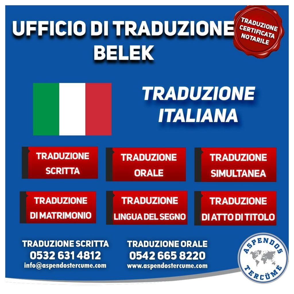 UFFICIO DI TRADUZIONE BELEK