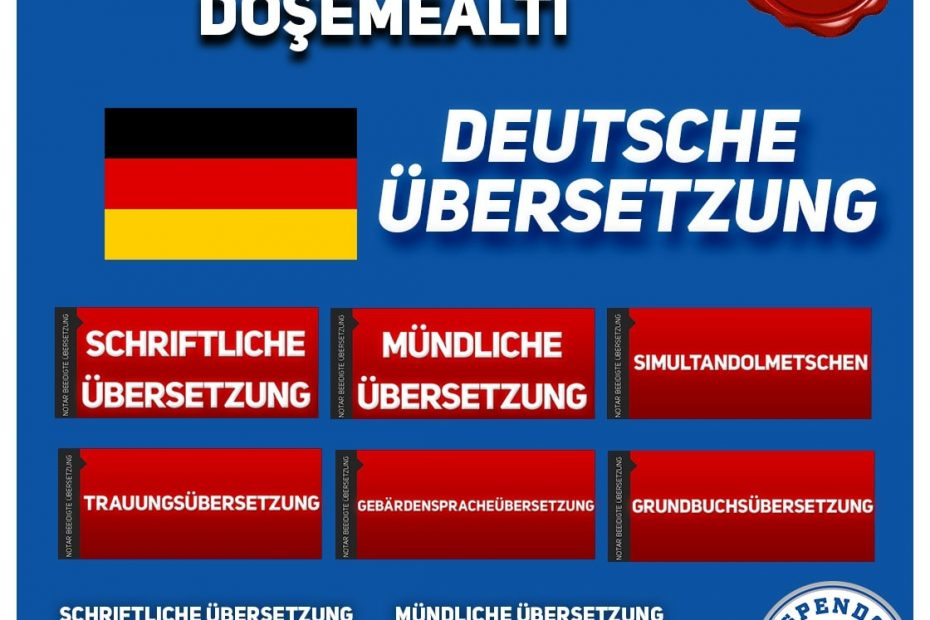 Döşemealtı Übersetzungsbüro - Deutsche Übersetzungen - Aspendos Übersetzungsdienste