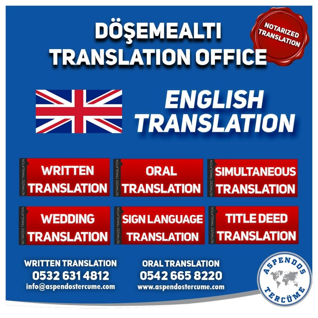 Döşemealtı Translation Office - English Translation - Aspendos Translation Services