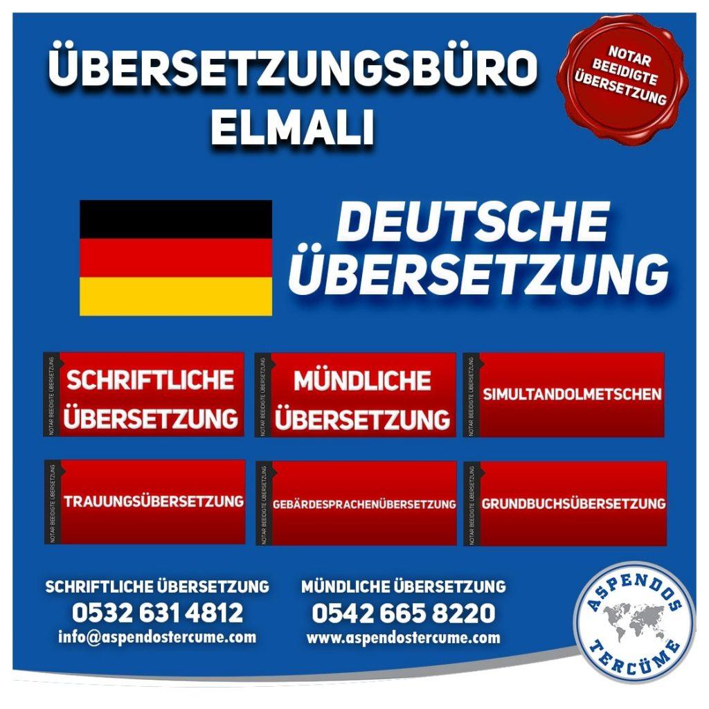 Elmalı Übersetzungsbüro - Deutsche Übersetzungen - Aspendos Übersetzungsdienste