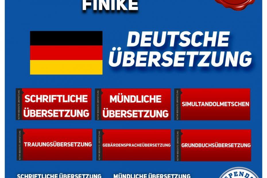 Finike Übersetzungsbüro - Deutsche Übersetzungen - Aspendos Übersetzungsdienste